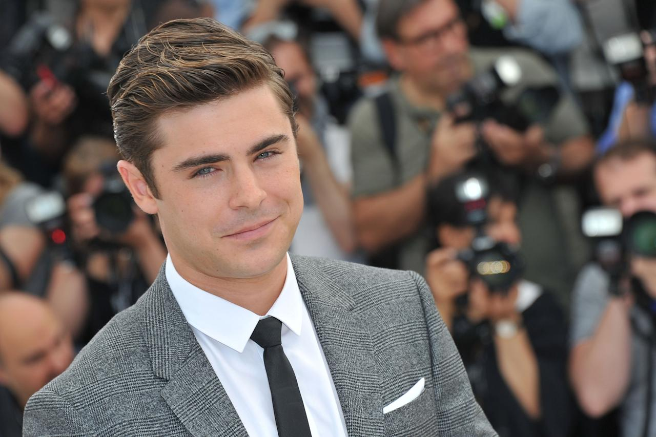 """CANNES, FRANCE - MAY 24:  Actor Zac Efron attends the """"The Paperboy"""" photocall during the 65th Annual Cannes Film Festival at Palais des Festivals on May 24, 2012 in Cannes, France.  (Photo by Pascal Le Segretain/Getty Images)"""