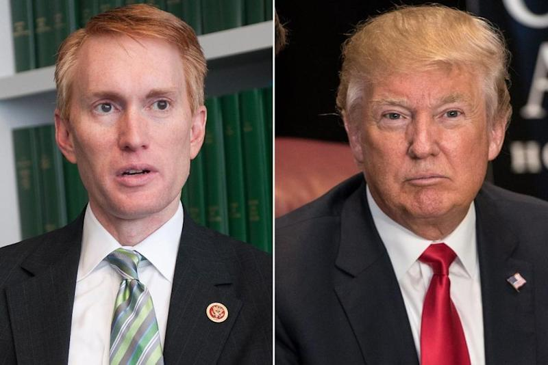 Senator James Lankford and President Donald Trump | Meredith Dake/CQ Roll Call; Noam Galai/WireImage