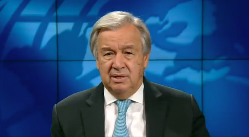 UN chief Antonio Guterres has warned that millions of people are at risk of poverty throughout the Covid-19 crisis. (United Nations / @antonioguterres)