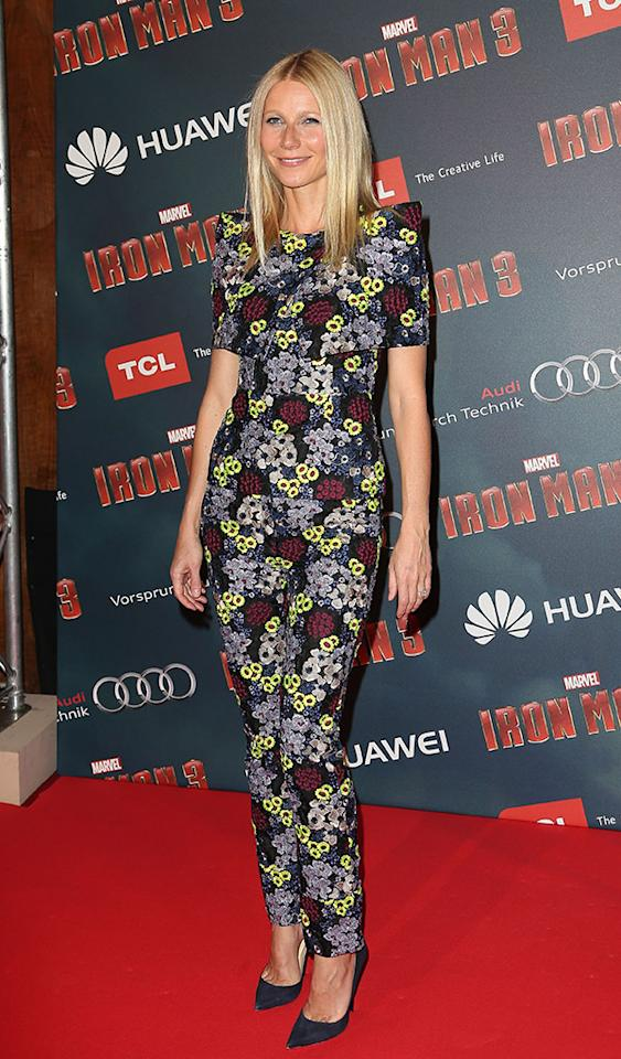 Yes, we fully expect this outfit to disgust a few of you who can't get past the pattern, but we happen to love Gwyneth Paltrow in Erdem, especially when the pieces are tailored this perfectly. Speaking of perfection ... check out those navy Jimmy Choos! Definitely 2 Hot 2 Handle. (4/14/2013)