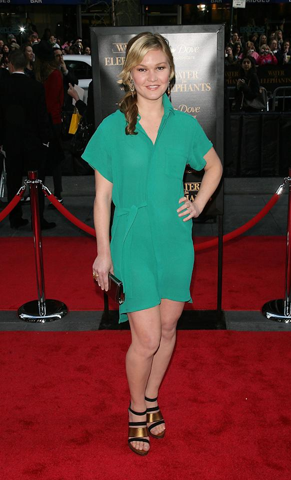 "<a href=""http://movies.yahoo.com/movie/contributor/1800018555"">Julia Stiles</a> attends the New York premiere of <a href=""http://movies.yahoo.com/movie/1810161083/info"">Water for Elephants</a> on April 17, 2011."