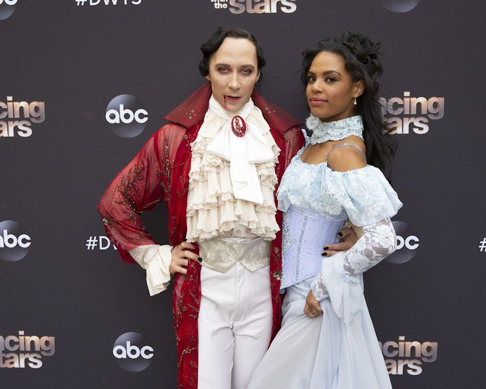 <p>For his <em>Dancing With the Stars</em> performance this week, Johnny Weir dressed up as a vampire alongside his partner, Britt Stewart. </p>