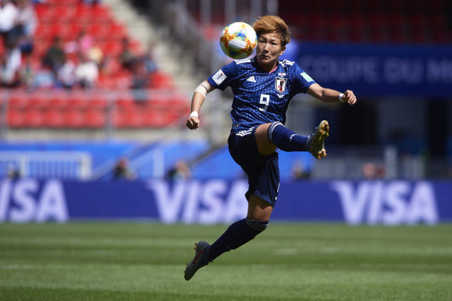 RENNES, FRANCE - JUNE 14: Yuika Sugasawa of Japan in action during the 2019 FIFA Women's World Cup France group D match between Japan and Scotland at Roazhon Park on June 14, 2019 in Rennes, France. (Photo by Quality Sport Images/Getty Images)