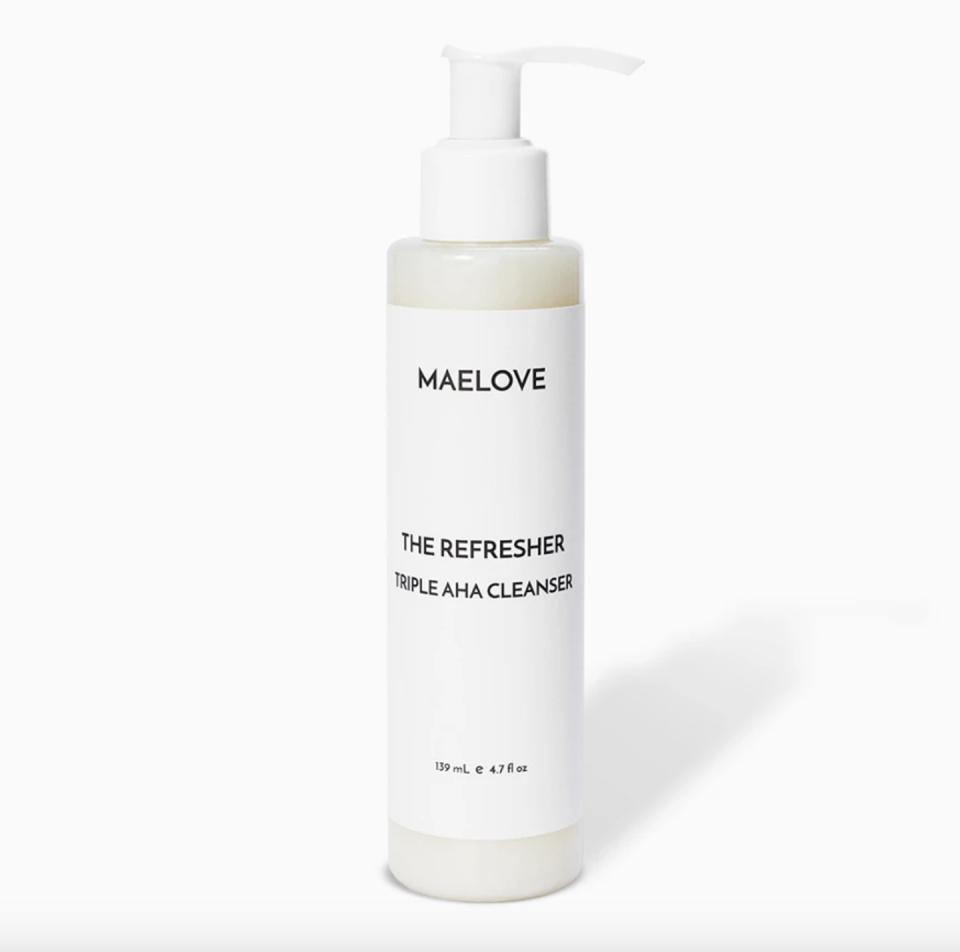 """<p>Give your skin a refreshing boost with Maelove's face wash, which contains a blend of AHAs (lactic, tartaric, malic) to gently rid sebum and natural mint oil for a cooling treat. Plus, you can use it both morning and evening—it's that gentle.</p><p><strong>Maelove </strong>The Refresher, $18.95, maelove.com. </p><p><a class=""""link rapid-noclick-resp"""" href=""""https://go.redirectingat.com?id=74968X1596630&url=https%3A%2F%2Fmaelove.com%2Fproducts%2Frefresher&sref=https%3A%2F%2Fwww.harpersbazaar.com%2Fbeauty%2Fskin-care%2Fg11653081%2Fbest-acne-products%2F"""" rel=""""nofollow noopener"""" target=""""_blank"""" data-ylk=""""slk:SHOP"""">SHOP</a><br></p>"""