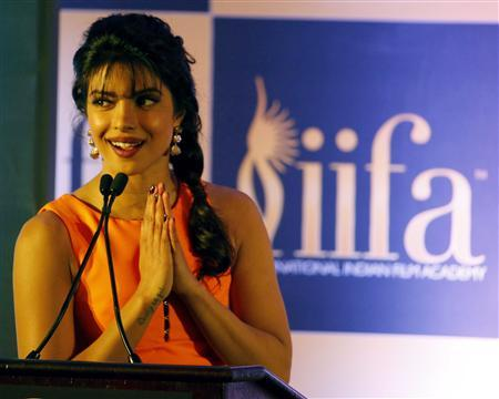 Bollywood actress Priyanka Chopra at a press conference ahead of the 15th International Indian Film Academy Awards in Tampa, Florida April 24, 2014. REUTERS/Mohammed Jaffer-SnapsIndia
