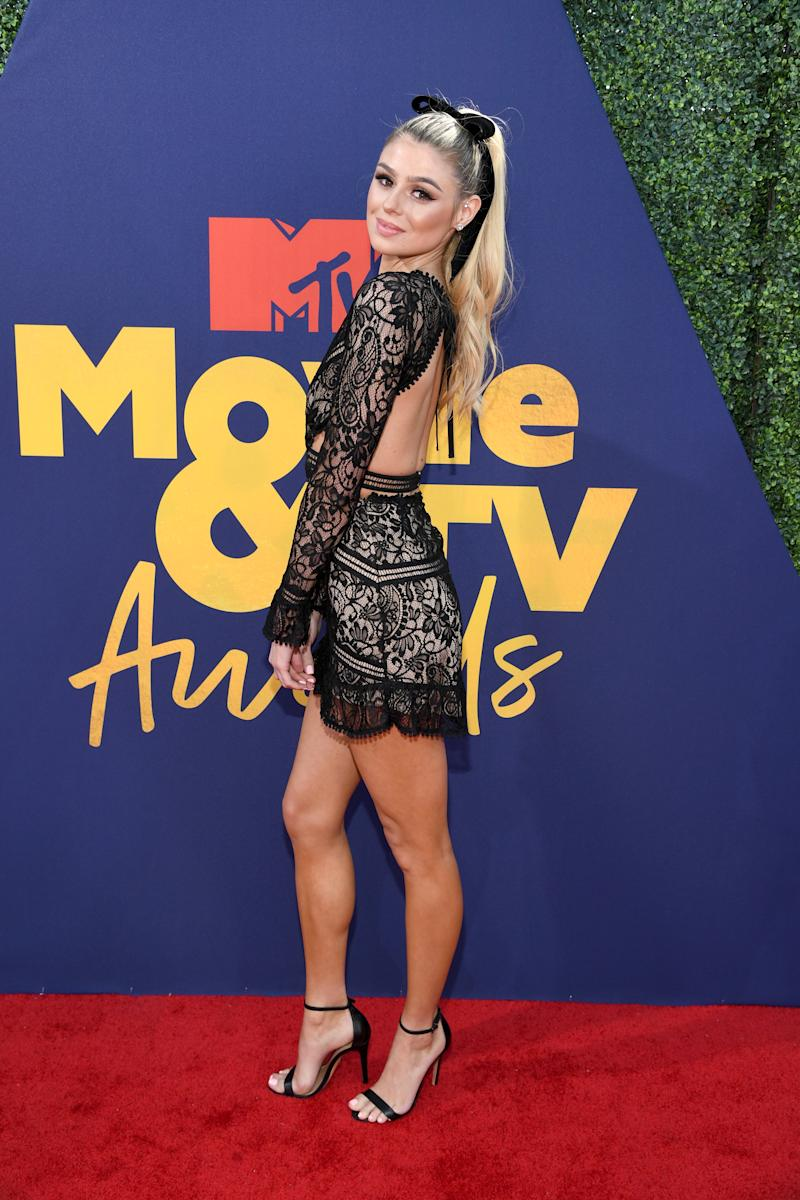 SANTA MONICA, CALIFORNIA - JUNE 15: Raquel Leviss attends the 2019 MTV Movie and TV Awards at Barker Hangar on June 15, 2019 in Santa Monica, California. (Photo by Kevin Mazur/Getty Images for MTV)