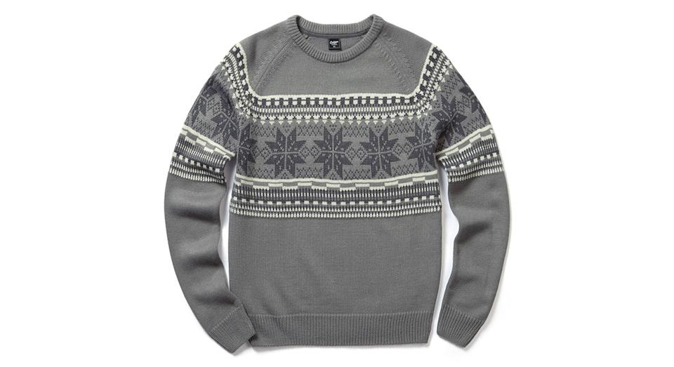 Patterned Crew Neck Jumper