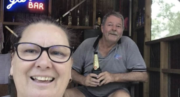 When Queenslander Sharen Gordon was refused entry into her home state after attending her mother's funeral in Victoria she sat for eight hours at a service station