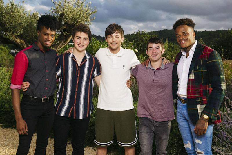 The Boys: This year's category is mentored by Louis Tomlinson (Thames/Syco)
