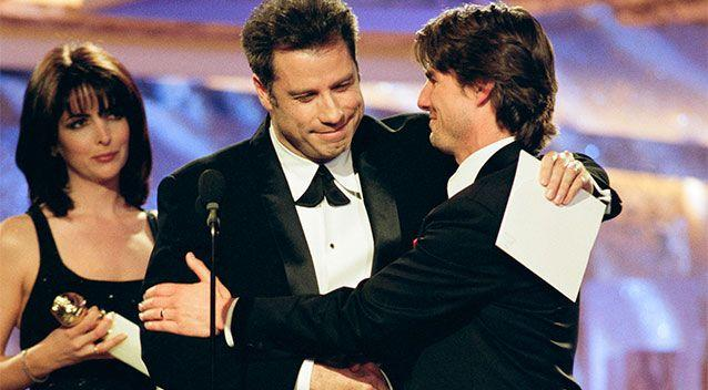 John Travolta won't leave Scientology, the film claims, because he's worried they'll leak personal confessions about his private life. Photo: Getty
