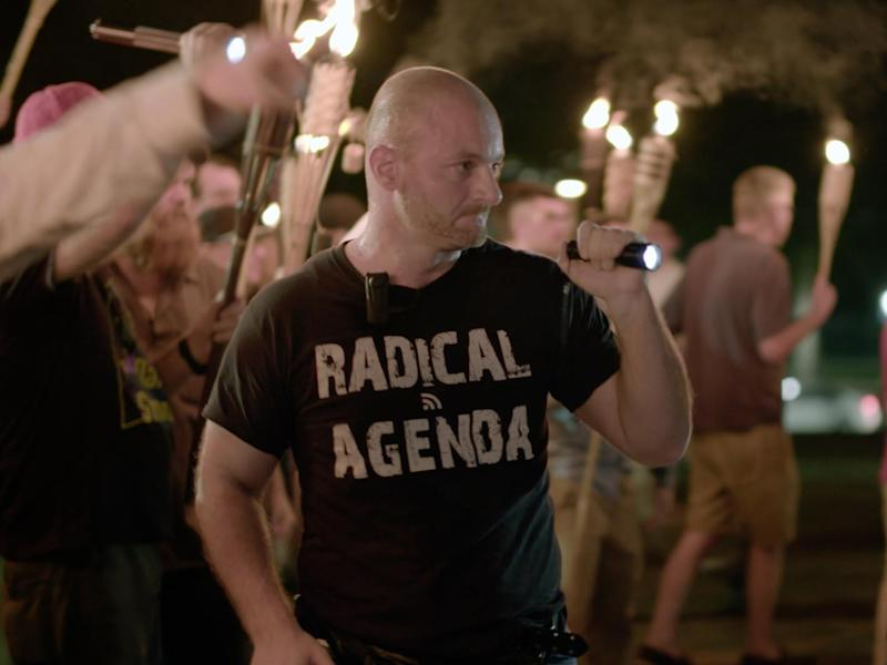 Christopher Cantwell could face up to 22 years in prison after he sent threatening messages to a Missouri man (Vice News Tonight/AP)