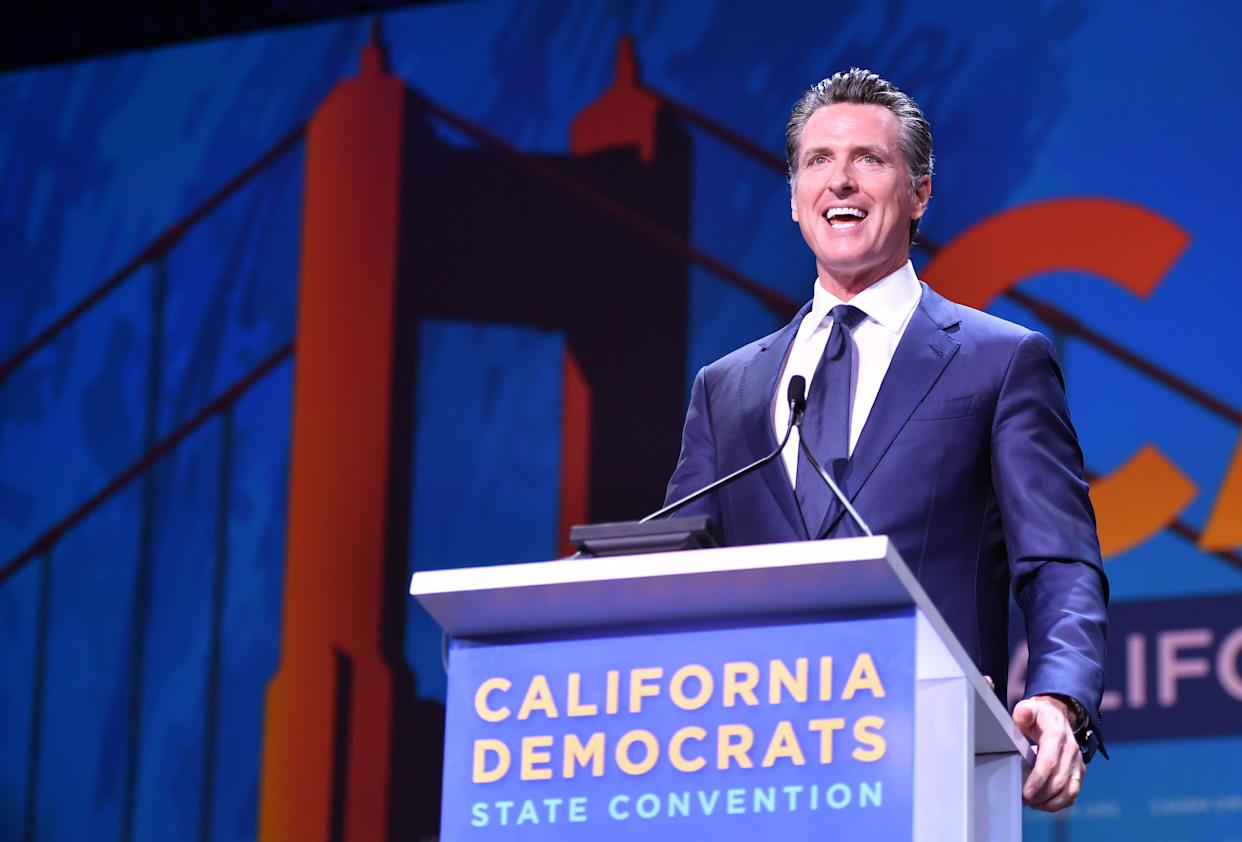 Gov. Gavin Newsom has said he wants California to pass progressive legislation that the rest of the nation can copy. (Photo: JOSH EDELSON via Getty Images)