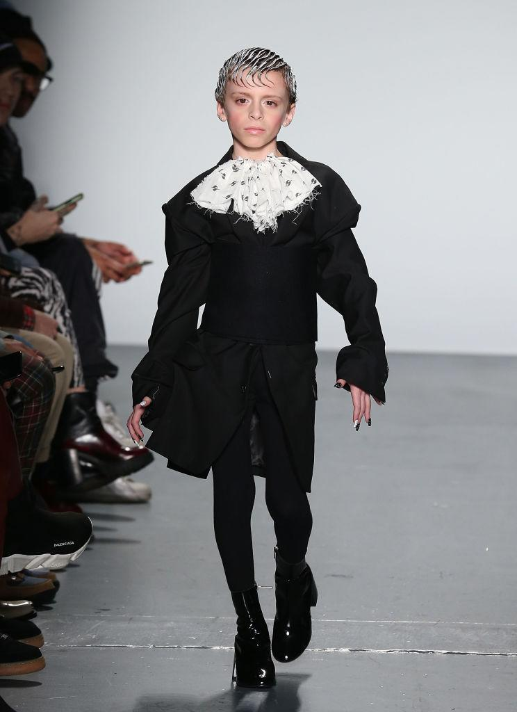 <p>In a show which celebrated diversity, 10-year-old Desmond, an LGBTQIA activist and self-professed 'drag kid', made his debut on the runway for Gypsy Sport. <em>[Photo: Getty]</em> </p>