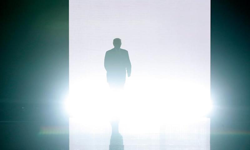 Donald Trump at the Republican national convention in Cleveland, Ohio, on 18 July 2016.