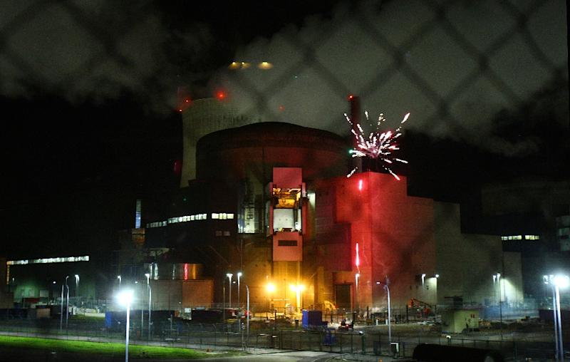 Greenpeace said the fireworks were set off at the foot of a spent fuel pool -- where nuclear plants store highly radioactive fuel rods that are removed from reactors after their use
