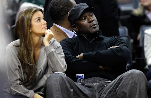 CHARLOTTE, NC - FEBRUARY 10: Charlotte Bobcats owner, Michael Jordan sits beside fiance, Yvette Prieto during the game between the Chicago Bulls and the Charlotte Bobcats at Time Warner Cable Arena on February 10, 2012 in Charlotte, North Carolina. NOTE TO USER: User expressly acknowledges and agrees that, by downloading and or using this photograph, User is consenting to the terms and conditions of the Getty Images License Agreement. (Photo by Streeter Lecka/Getty Images)