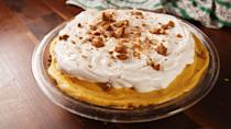 """<p>Try this light-as-air cream filling for a fun twist on classic pumpkin pie.</p><p>Get the recipe from <a href=""""https://www.delish.com/cooking/recipe-ideas/recipes/a50136/pumpkin-cream-pie-recipe/"""" rel=""""nofollow noopener"""" target=""""_blank"""" data-ylk=""""slk:Delish"""" class=""""link rapid-noclick-resp"""">Delish</a>.</p>"""