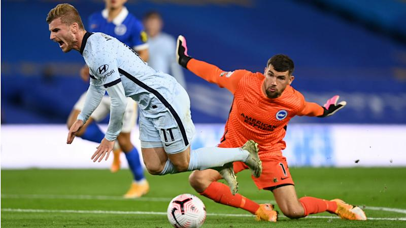 Brighton and Hove Albion 1-3 Chelsea: Werner wins penalty as James and Zouma seal points