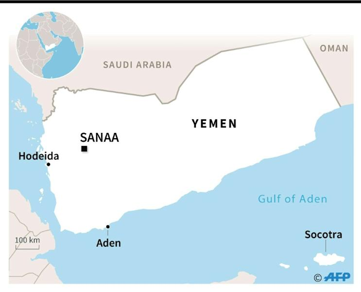 Map of Yemen locating the island of Socotra, recently seized by southern separatists (AFP Photo/)