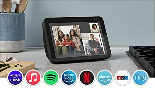All-new Echo Show 8 (2nd Gen, 2021 release) | HD smart display with Alexa and 13 MP camera | Ch…