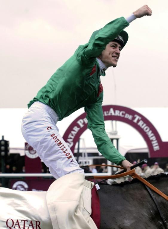 Ace Belgian jockey Christophe Soumillon hopes he and Tarnawa can give owner the Aga Khan his fifth winner of the Prix de l'Arc de Triomphe but first since he rode Zarkava to glory in 2008 (AFP/STEPHANE DE SAKUTIN)