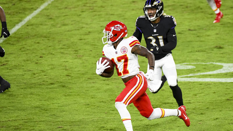 Kansas City Chiefs wide receiver Mecole Hardman fantasy football waiver wire.