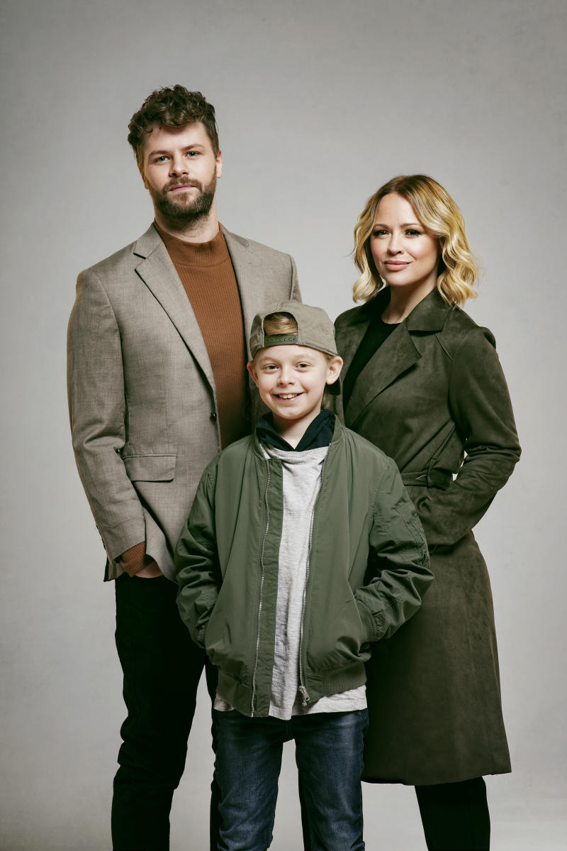 Jay McGuiness, Kimberley Walsh and Theo Collis, credit Matt Crockett
