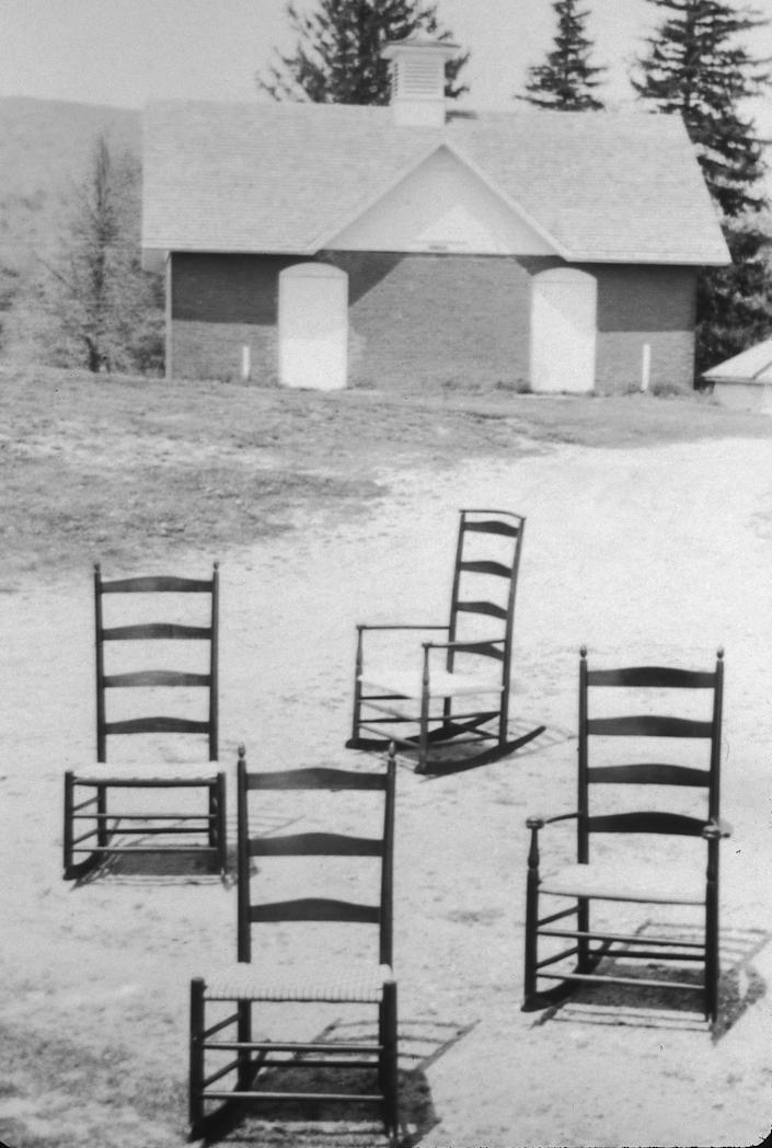 "<h1 class=""title"">74206723</h1> <div class=""caption""> Shaker chair at Canterbury Shaker Village, New Hampshire, 1974. </div> <cite class=""credit"">Alfred Eisenstaedt</cite>"