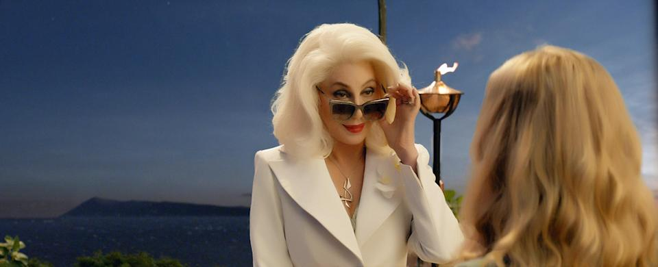 Cher plays Seyfried's grandmother in <em>Mamma Mia! Here We Go Again.</em> (Photo: Universal Studios/Courtesy Everett Collection)