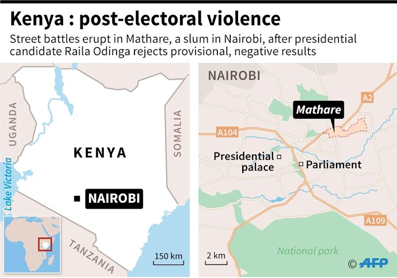 Four people have been killed in post-election violence in Kenya (AFP Photo/Paz PIZARRO)