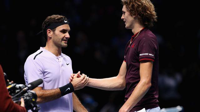 Federer and Zverev: Generation now and next? Image: Getty