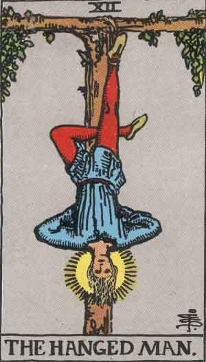 Hanged Man card. Photo: Wikimedia Commons