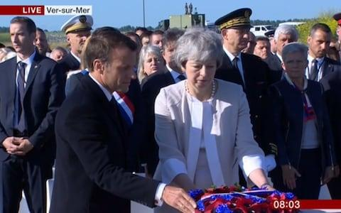 Laying of the wreath - Credit: BBC
