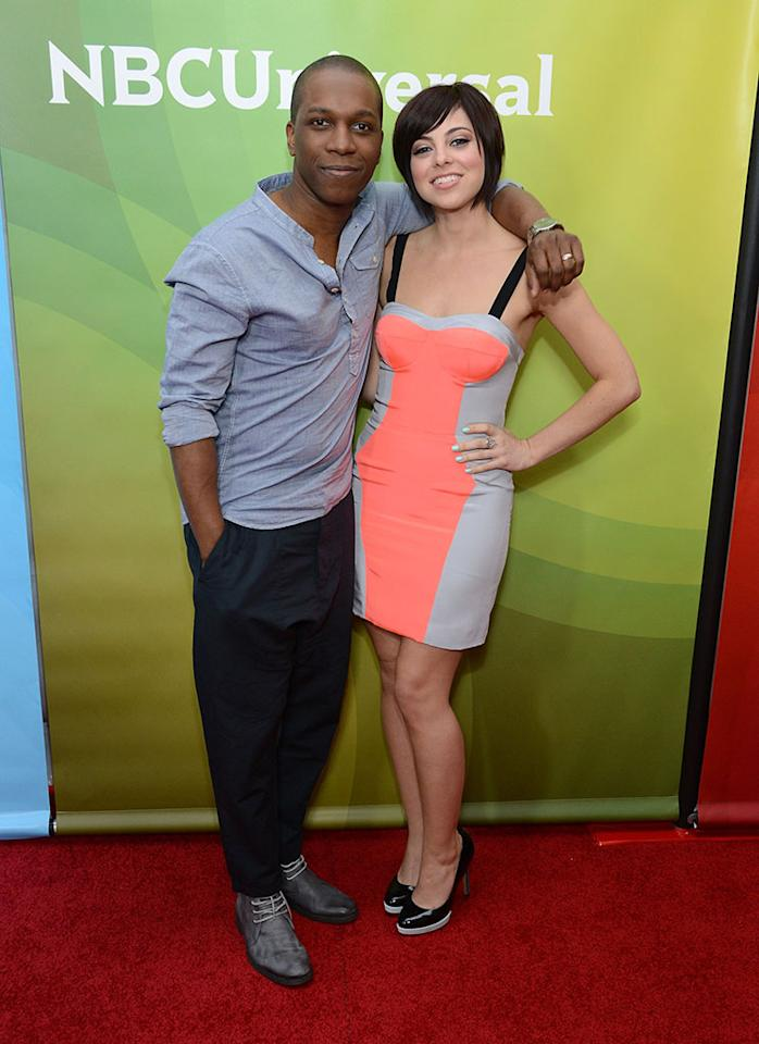 """Leslie Odom Jr. and Krysta Rodriguez attend NBCUniversal's """"2013 Winter TCA Tour"""" Day 1 at Langham Hotel on January 6, 2013 in Pasadena, California."""