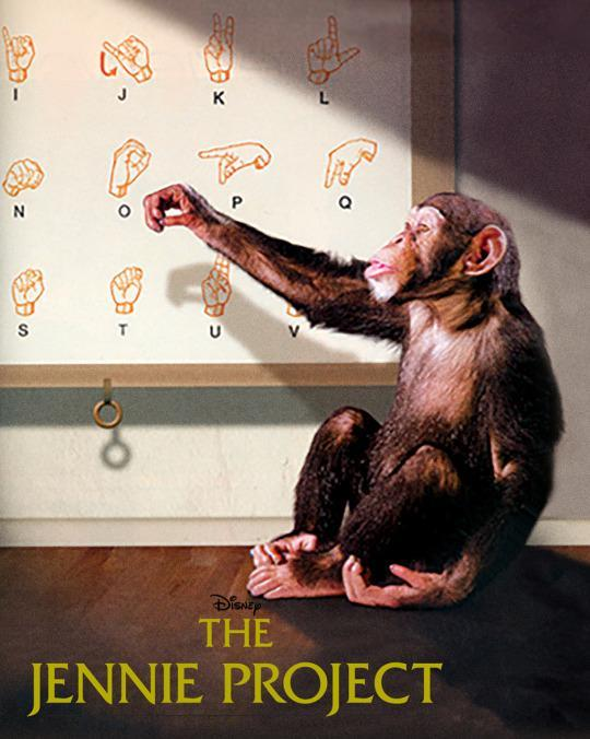 <p>If you ever bring a chimpanzee home to live with your family, do not teach her sign language or else she is bound to warm your heart! (This is based on the true story, but in real life the chimp dies, just FYI.) <em>(Credit: Disney Channel)</em> </p>