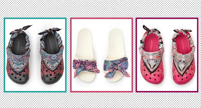 Liberty London and Crocs have collaborated to create a new, stylish collection. (Yahoo Style UK)