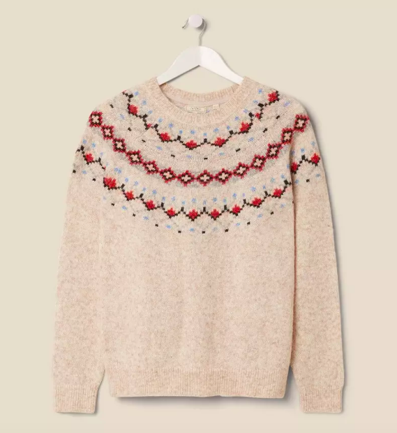 The 'Felicity Fairisle' knit is part of Angie Smith's The Stylist Edit [Image: FatFace]