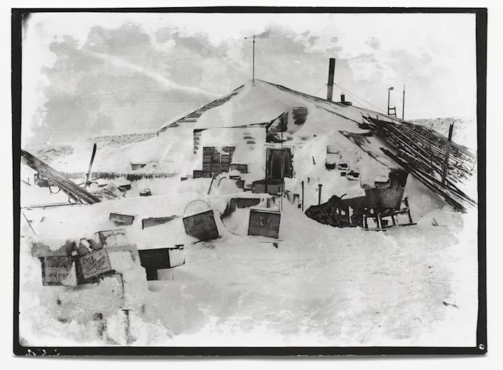 """Winter quarters: the expedition hut, Cape Evans, October 1911.<br><br>(Photo credit: ©2011 Richard Kossow)<br><br>For more information on """"The Lost Photographs of Captain Scott"""" and where to buy the book, visit <a href=""""http://www.hachettebookgroup.com/books_9780316178501.htm"""" rel=""""nofollow noopener"""" target=""""_blank"""" data-ylk=""""slk:hachettebookgroup.com"""" class=""""link rapid-noclick-resp"""">hachettebookgroup.com</a>"""