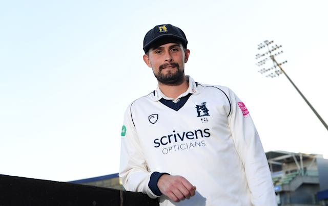 Will Rhodes at his unveiling as Bears captain (Warwickshire CCC)