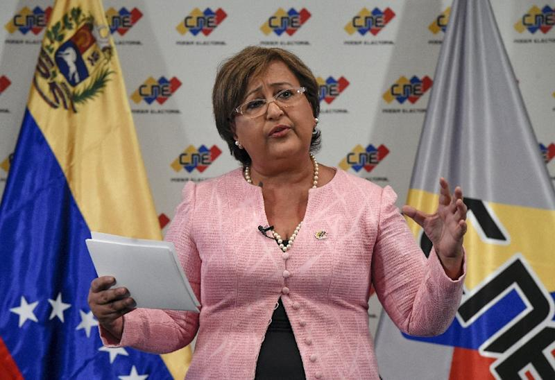 "The head of the National Electoral Council (CNE), Tibisay Lucena, said governors would now be elected ""at the end of the first half of 2017"""