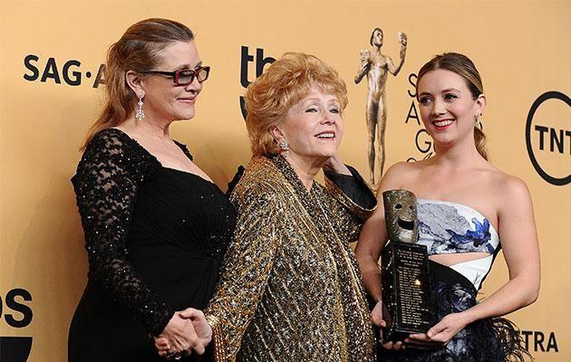 Billie, Carrie and Debbie together at the 2015 SAG Awards. Photo: Getty