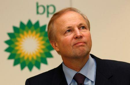 FILE PHOTO: BP's Chief Executive Bob Dudley speaks to the media after year-end results were announced at the energy company's headquarters in London
