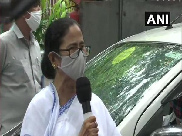 West Bengal Chief Minister Mamata Banerjee speaking to reporters in New Delhi on Wednesday.