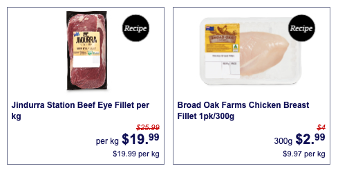 Beef eye fillet and chicken breast fillet, which are both Aldi Super Savers for August 15.