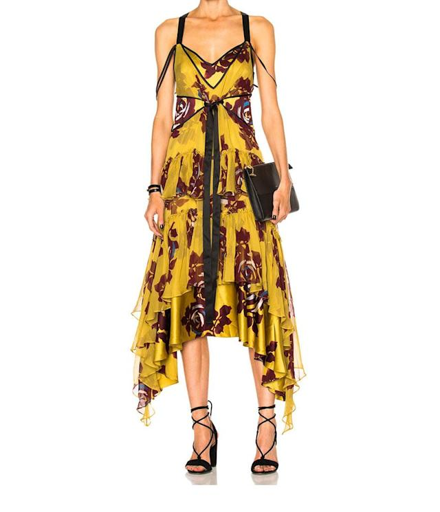 "<p>Sable Dress, $693, <a href=""http://www.fwrd.com/product-cinq-a-sept-sable-dress-in-chartreuse-multi/CINF-WD4/?d=Womens&srcType=plpaltimage&page=18&lc=92&utm_medium=affiliate&utm_source=ran&source=ran&utm_campaign=glob_p_TnL5HPStwNw&ranMID=41870&ranEAID=TnL5HPStwNw&ranSiteID=TnL5HPStwNw-e3YOabs4uGfntv5gDGNV3A"" rel=""nofollow noopener"" target=""_blank"" data-ylk=""slk:fwrd.com"" class=""link rapid-noclick-resp"">fwrd.com</a> </p>"