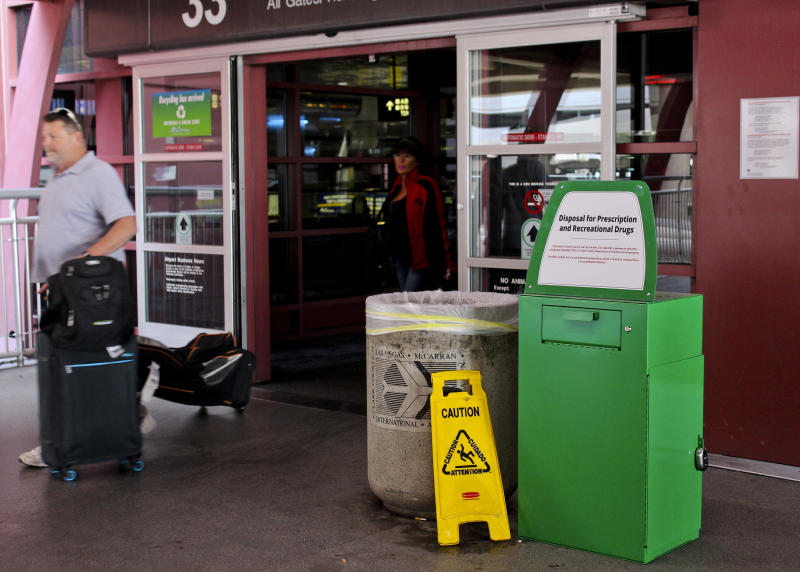Forgot about that joint? Vegas airport lets people dump pot
