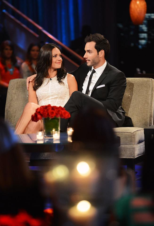 "Emotions ran high as Desiree sat down with Chris Harrison, live, to talk about her three final bachelors from this season - Brooks, Chris, and Drew. She took viewers back to those final days in Antigua when Brooks, the man she fell in love with, decided to go home. She discussed her feelings in those finals days, her relationships with the final three men, and the heart-wrenching decisions that she had to make that changed their lives forever. Brooks, Chris and Drew are back to discuss the shocking outcome of the season. It's the poignant ending to Desiree's heartfelt journey to find true love, live, on ""The Bachelorette: After the Final Rose."""