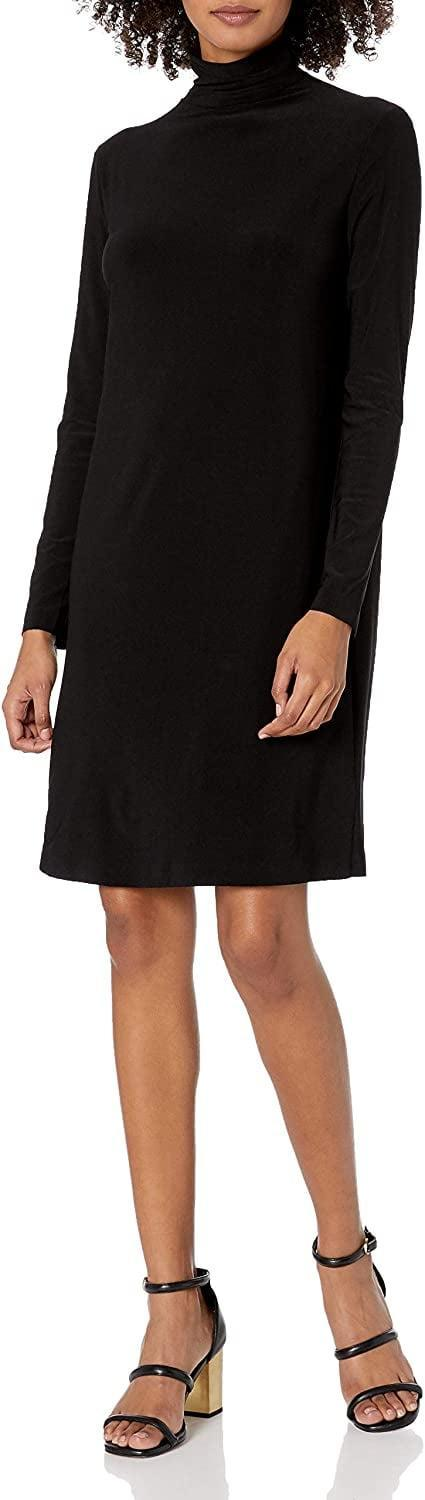 <p>You can style this <span>Norma Kamali Long Sleeve Turtleneck Dress</span> ($89-$131) so many ways.</p>
