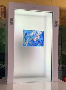 The world's first NFT created for display as a PORTL hologram was unveiled by artist Nicole Buffett at #AIshowbiz Earth Day to benefit Open Earth Foundation's work. PORTL is the L.A. startup known for holoportation and interactive AI-based display. Find out more at PORTLhologram.com.
