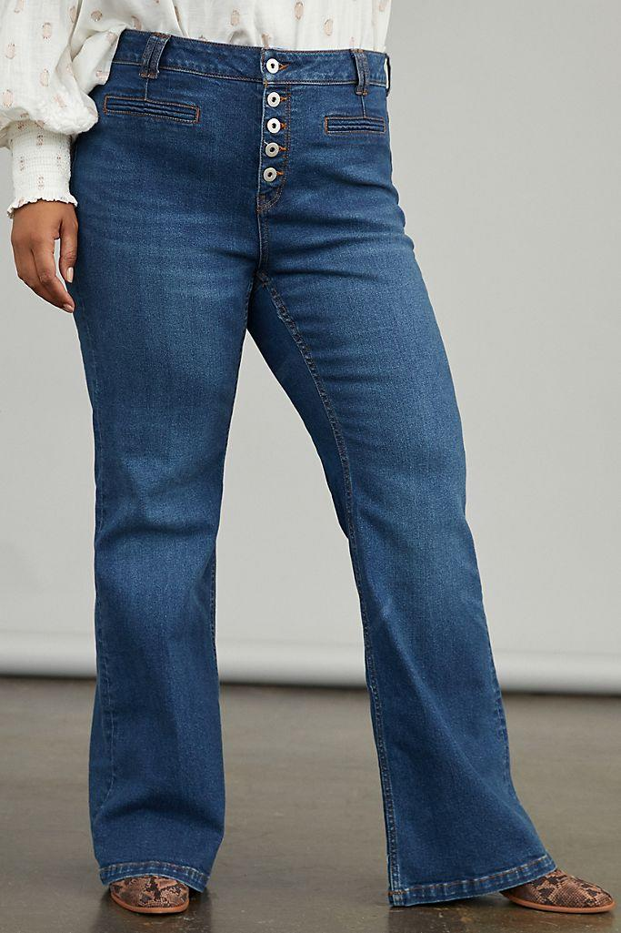 Pilcro Ultra High-Rise Bootcut Jeans. Image via Anthropologie.